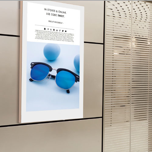 monitor verticali digital signage